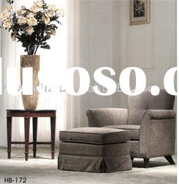 single sofa chair(Malaysia rubber wood upholstery fabric high-density sponge HB-172)