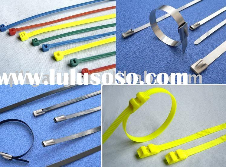stainless steel cable ties(Naked stainless steel ,Plastic sprayed stainless steel ,nylon cable ties)