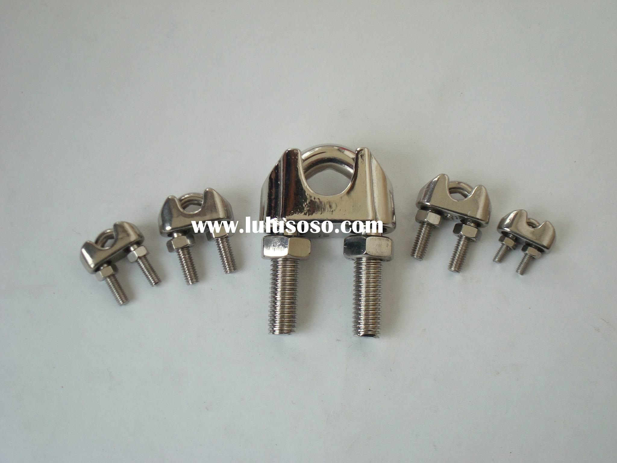 stainless steel malleable wire rope clamp