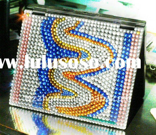 supply colorful rhinestones laptop skin cover