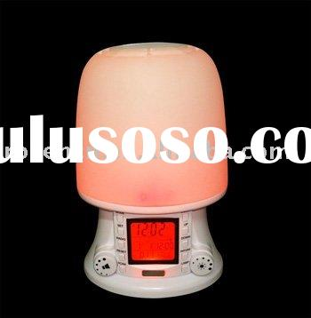 wake up light with sunrise light & lamp with radio and alarm
