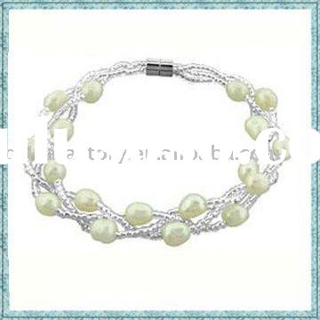 wholesale fashion jewelry magnetic faux pearl bracelet