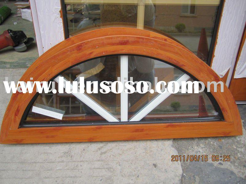 windows and doors, Aluminum AS2047 half circle windows and with grids inside; Wooden-like profile.