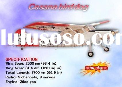 wooden airplanes Cessna Birddog 26CC rc plane balsa-made gas engin power ARF radio control fuel airp