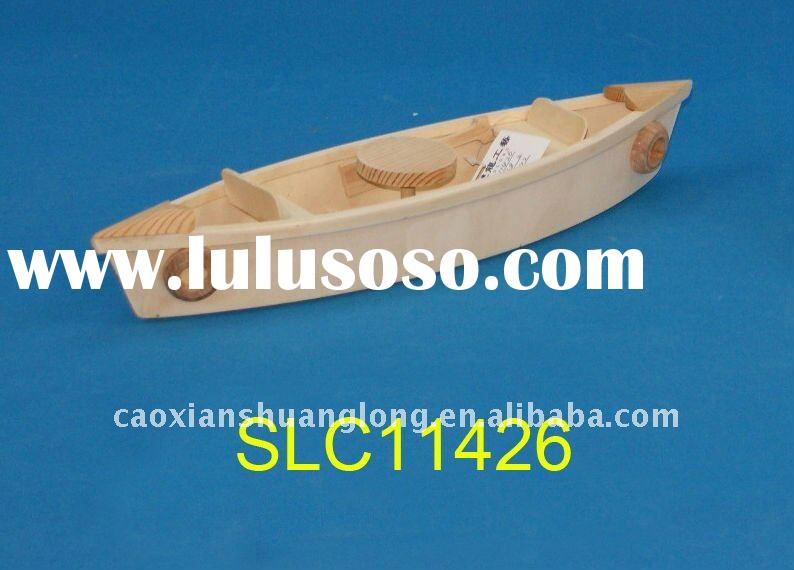 wooden boat for decoration