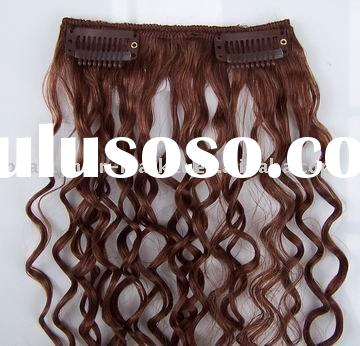 100% Indian Human Hair Clip In Curly Hair Extensions