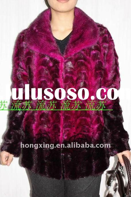 100%Mink fur coat for lady & Fashion fur coat &New style luxurious fur coat