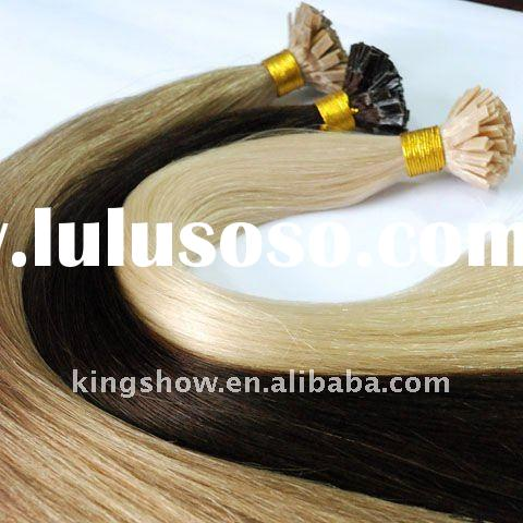 100% Remy human hair pre bonded hair extensions