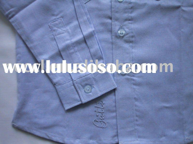 100% cotton boy shirt with embroidery logo