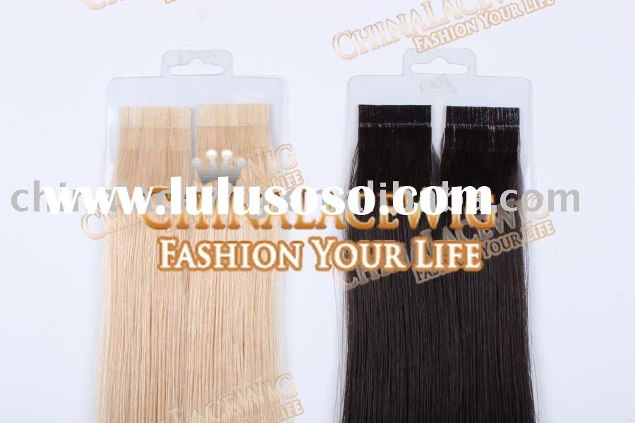 100% indian human remy adhesive tape hair extension
