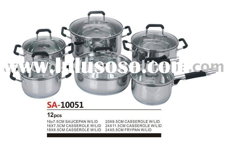12pcs 304 Stainless Steel Cookware/Kitchenware