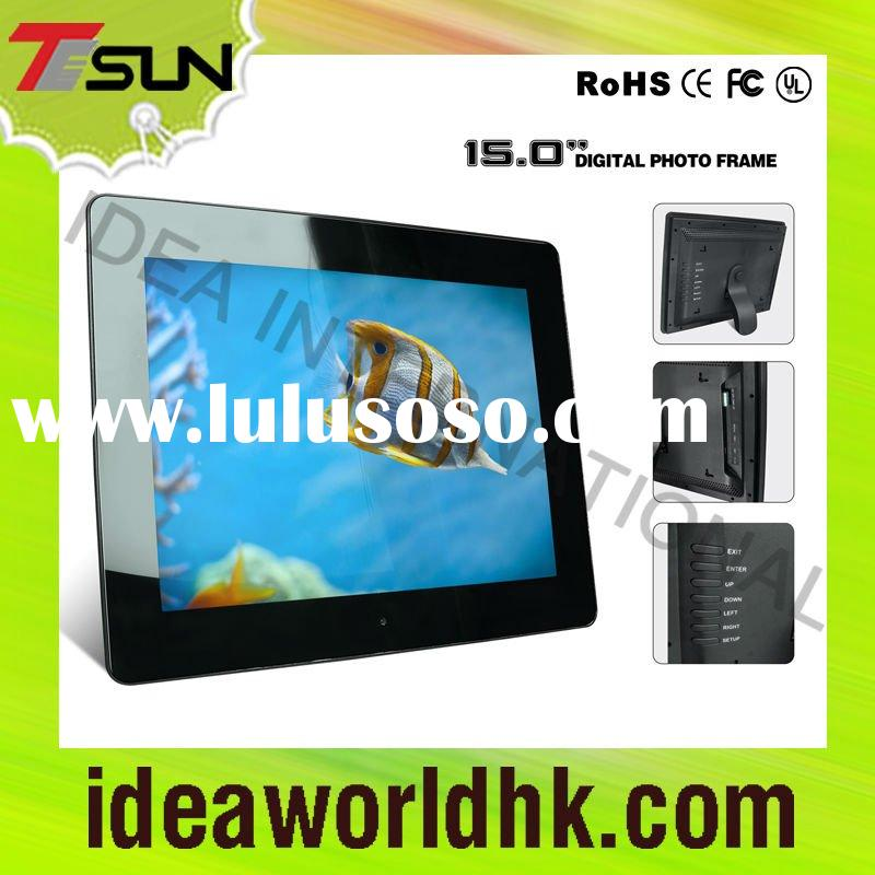 """15"""" battery operated digital photo frame"""