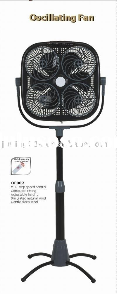 16 inch stand fan-Oscillating Fan-OF002: remote control, height/wind angle adjustable, multi-speed,