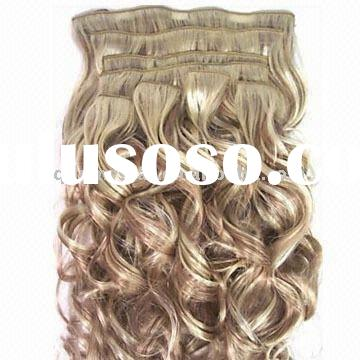 "18"" Wholesale 100% remy human hair Clip on hair extension"