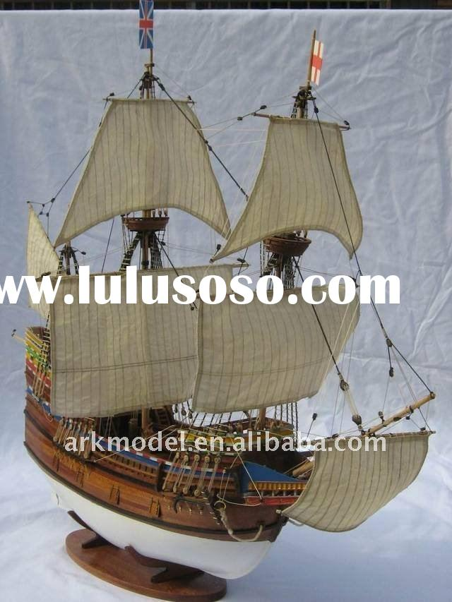 1/50 Yacht MAY FLOWER Wooden Ship E7901