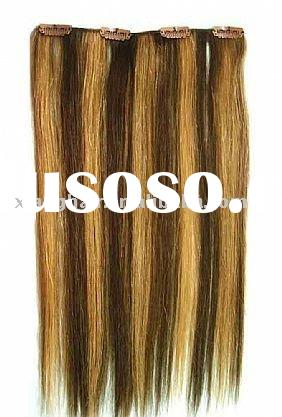 1 piece clip in hair extensions, double wefted, clip extensions, hair extensions, 100% el cabello na