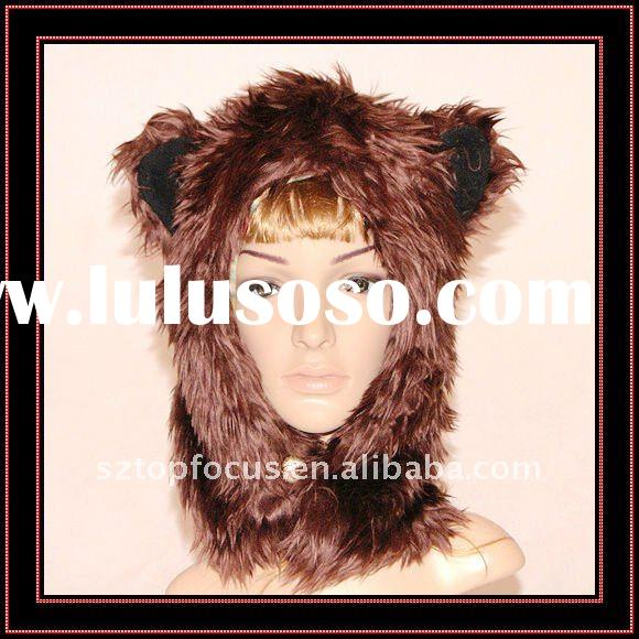 2011 FASHION ADULT ANIMAL WINTER HATS AND CAPS HALF BROWN BEAR