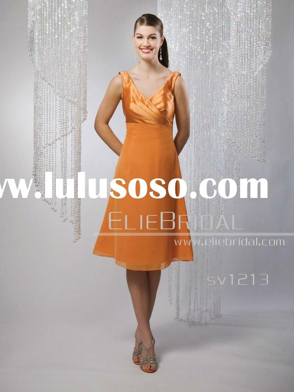 2011 Fashion tea length party evening dress