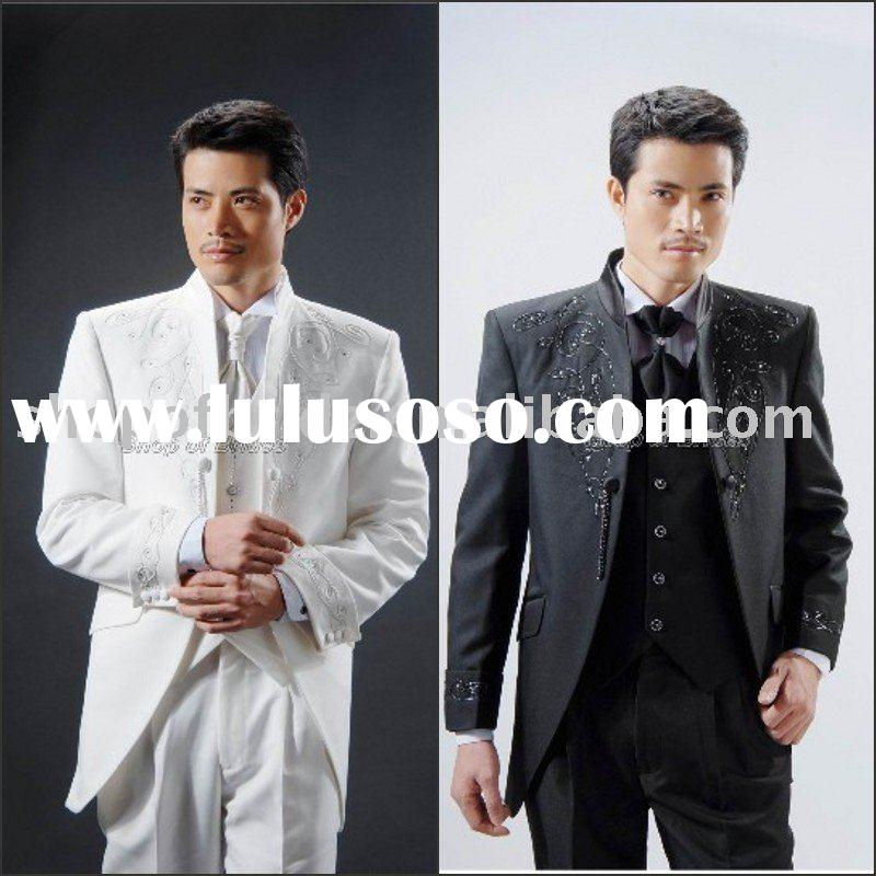 2011 Men complete designer wedding Bridegroom suit/Groom wear /Tuxedo /tail coat(Clothes+Pants+tie)