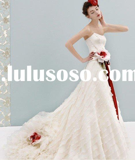 2011 New Arrival Spaghetti Strap antique pregnant fairytale beautiful princess MG326 Bridal Gown