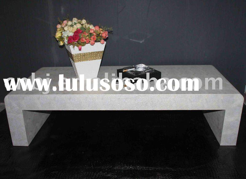 2011 New Style Faux Leather__MDF console tea table/ Leather home decoration/Table furniture