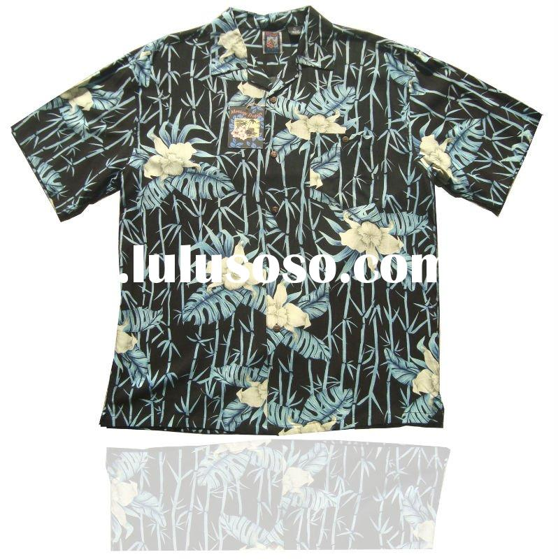2011 Summer Mens Rayon Short Sleeve Hawaii Shirt