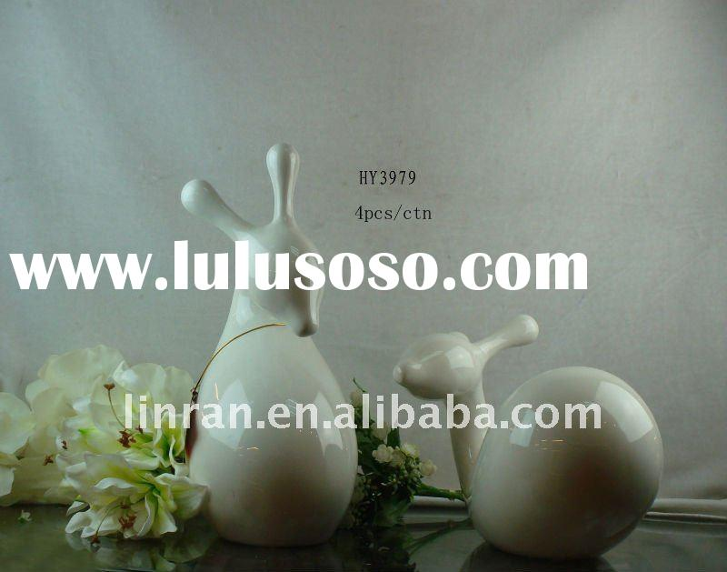 2011 autumn hot sell ceramic decorative deer craft for home decoration