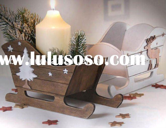 2011 christmas candle holder,wood craft,wooden christmas decorations
