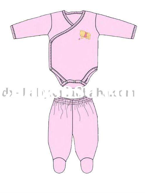 2011 fashion new born baby romper set for underwear