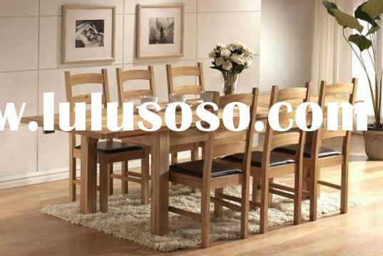 2011 new cheap IKEA style slab solid wood wooden dining table and chair dining set