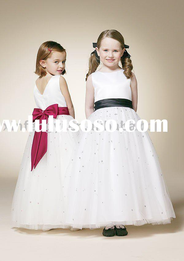 2011 new design Flower girl Dress colorful for party