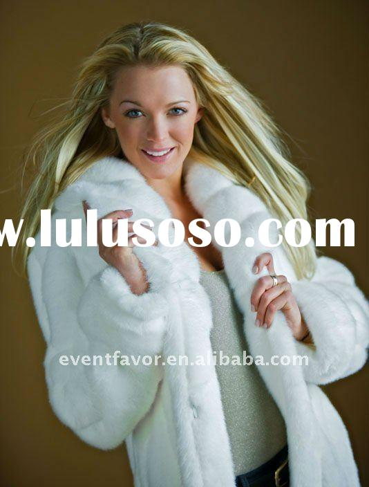 2011 newest fashion designs rabbit fur coats