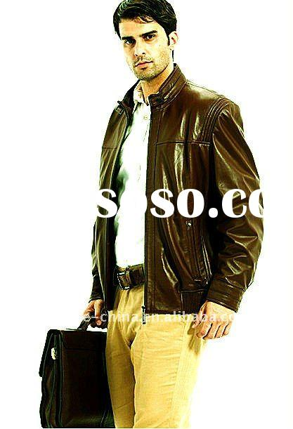 2011 newest fashion men's leather coats