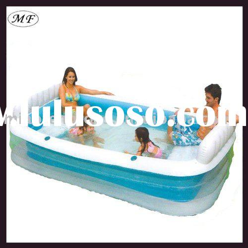 2011 the best and newest 3P 6P EN71 CE SGS PVC Round/Rectangle inflatable adult swimming pool