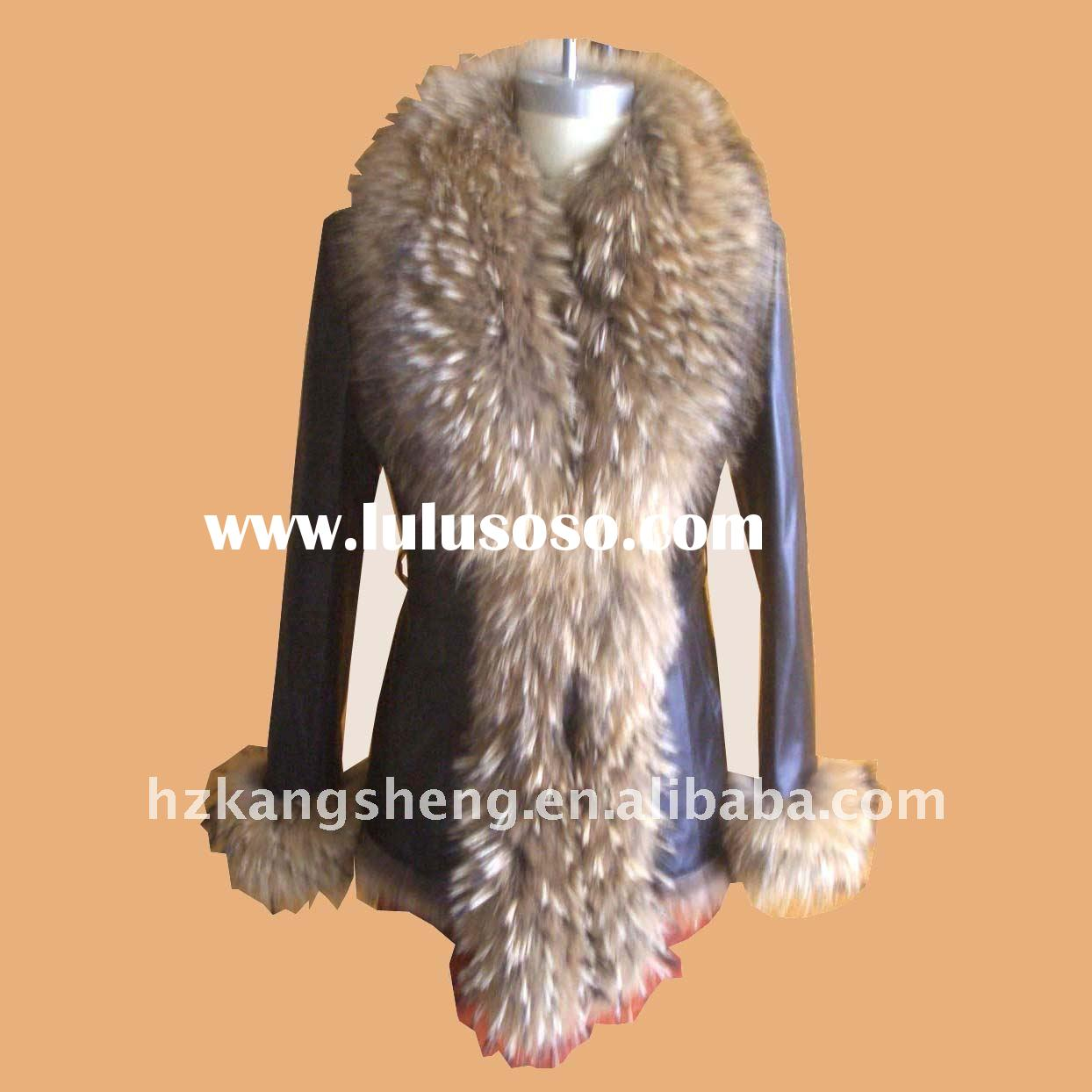 2012 100% GENUINE LEATHER JACKET,Ladies' Waxy Lamb Skin Garment,LEAHTER JACKET,LEATHER COAT
