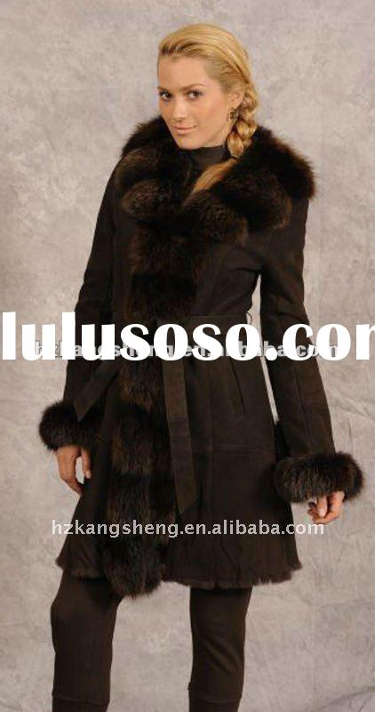 2012 LADIES GENUINE LAMB SHEARING COAT,LAMB SHEARING COAT,SUEDE SHEARING COAT,SHARING GARMENT FOR WI