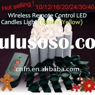2012 decoration remote controlled led christmas candle light
