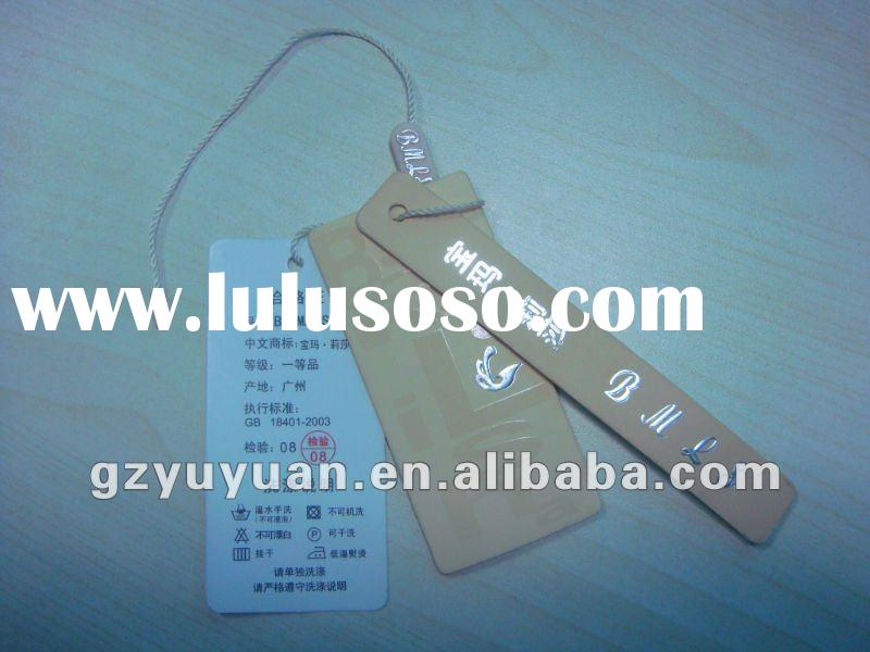 2012 hot paper garment hang tags for printing