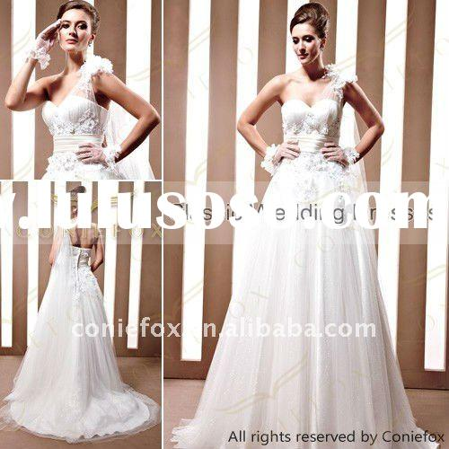 2012 latest princess design beautiful wedding dress 90033