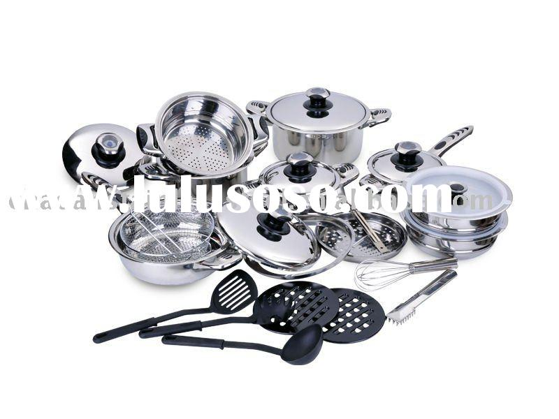 27 pcs no magnetic stainless steel lid cookware set