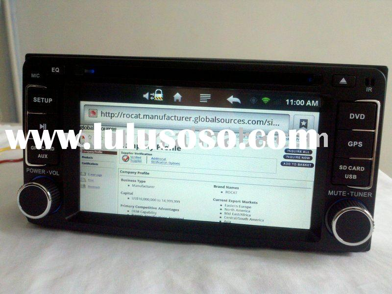 2DIN Vehicle dvd android car pc with wifi bluetooth 3g ipod gps
