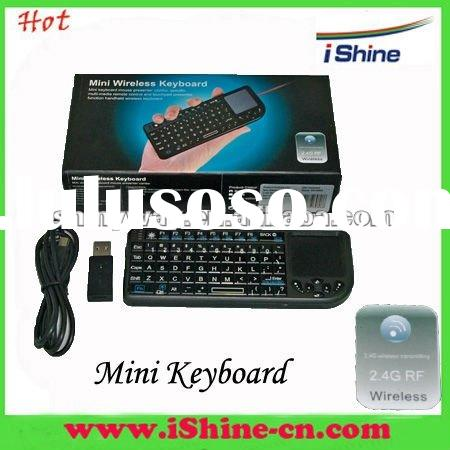 2.4G Wireless Mini keyboard with mouse pad,laser pointer and backlight