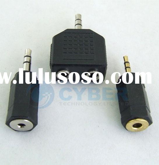 2.5 to 3.5/3.5mm to 2.5mm Y-Splitter Headphone Adapter