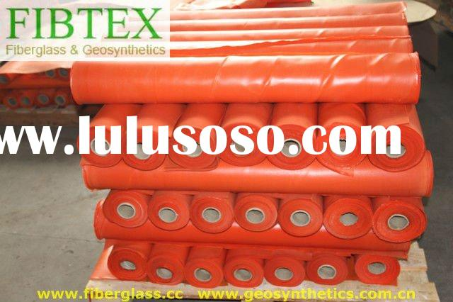 310g/m2,orange colour,1mx50m PVC Coated Fiberglass Fabric