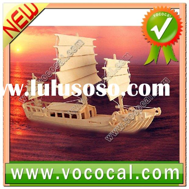 3D Jigsaw Puzzle Toy Woodcraft Junk Ship