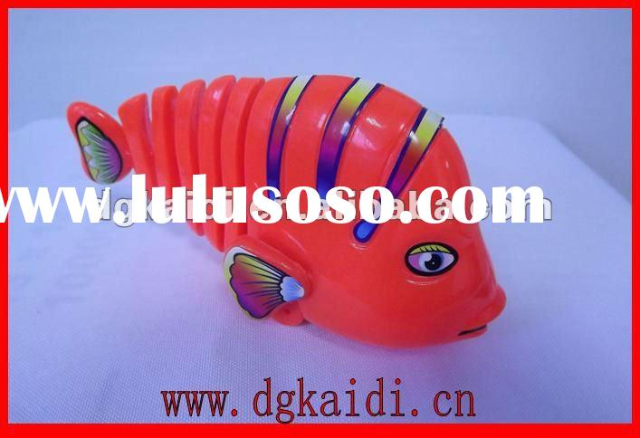 3D plastic fish clockwork toys for kids