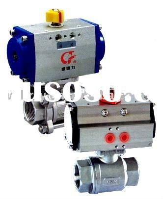 3PC Water Ball Valve Pneumatic Hydraulic actuator