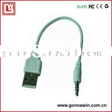 3.5mm plug to usb data cable for ipod, mp3, mp4