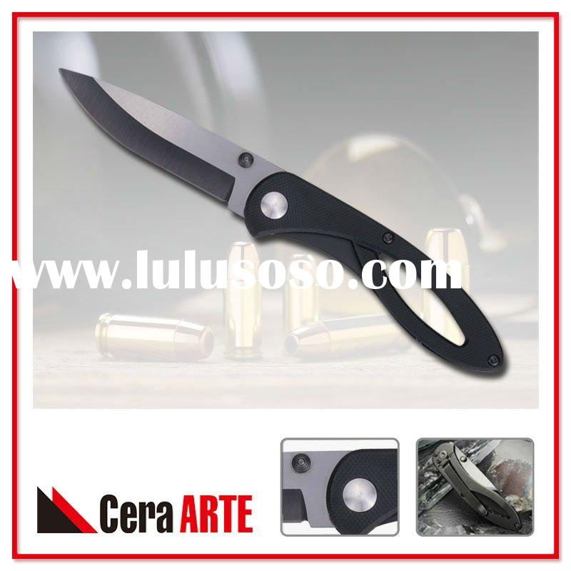 "3"" zirconia ceramic knife (mirror polished blade with G10 stainless steel liner handle)"