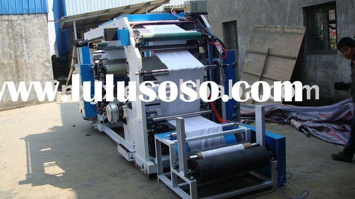 4 color flexographic printing machine for pp woven sack , non-woven ,plastic ,paper